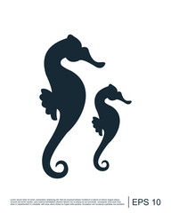 seahorse icon illustration