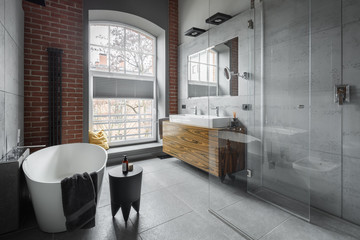 Industrial style bathroom