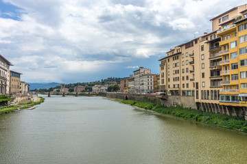 Italy,Florence, Arno, Arno over a body of water