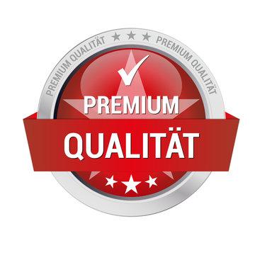 rotes Gütesiegel für Premium Qualität