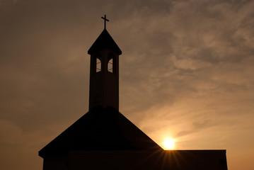 Sunset and Church - 夕日と教会