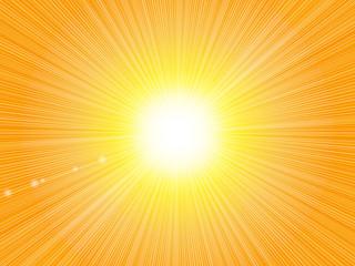 黄色 放射状 キラキラ 背景