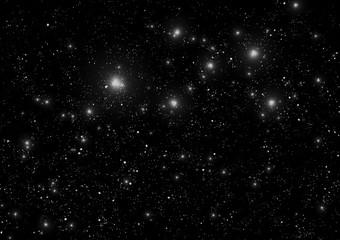 モノクロの星空