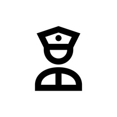Police icon. State-of-the-art security service sign