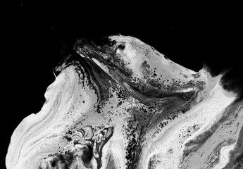 abstract  black white marble texture, acrylics art