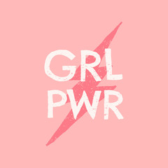 GRL PWR Typographic Design