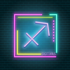 Garden Poster Retro sign sagittarius neon sign
