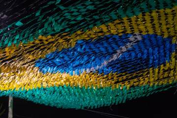 abstract colorful background - Brazil Flag
