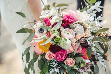 Obraz Przepiękny, stylowy  bukiet kwiatów - fototapety do salonu