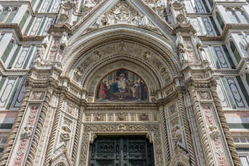 Cathedral Santa Maria del Fiore with magnificent Renaissance dome designed by Filippo Brunelleschi in Florence, Italy