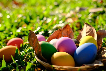Happy egg easter day background
