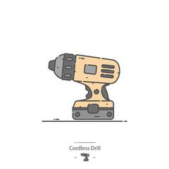 Cordless drill - Line color icon