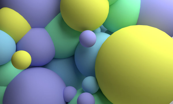 3d illustration background with spheres