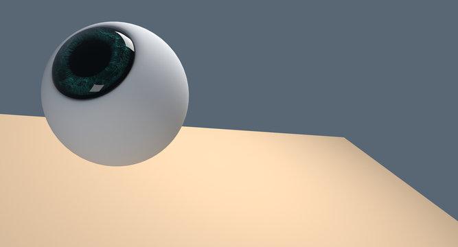 3d human eye illustration