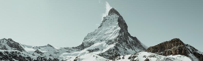 Fotobehang Alpen Panorama Matterhorn, Wallis, Schweiz
