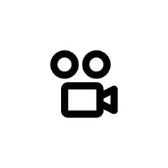 Video camera icon. Cinema sign