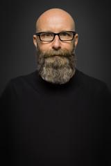 male portrait with full beard