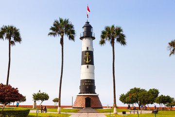 Lima Peru Leuchtturm Faro La Marina Wahrzeichen