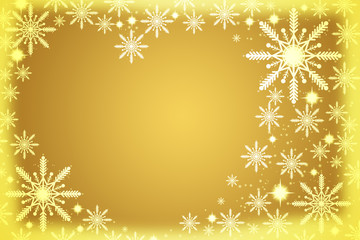 Gold christmas frame.