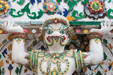 Mythological Crocodile Statue at Wat Arun
