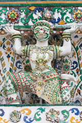 Statue of a Demon supporting a Prang at Wat Arun