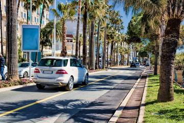 Promenade de la Croisette in Cannes, Frankreich
