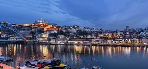 Looking across the Douro river to the Gaia side in Porto