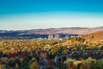 Fall Color over Caughlin Ranch Reno Nevada