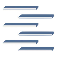 Offset Shelving Vector