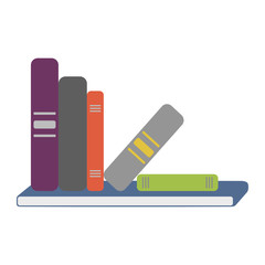 Shelf Full Of Books Vector