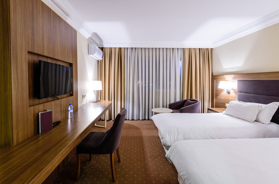 Modern interior of a classic room in the hotel