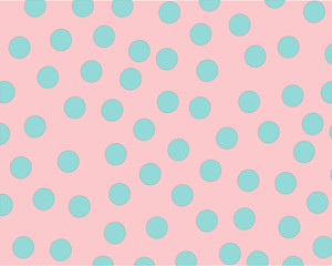 pattern on pink background blue balls arranged in chaotic order