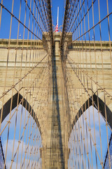 Brooklyn Bridge in New York City, New York