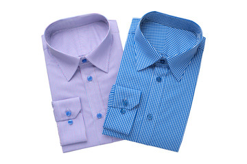 Two fashion mens shirts, isolated on white.