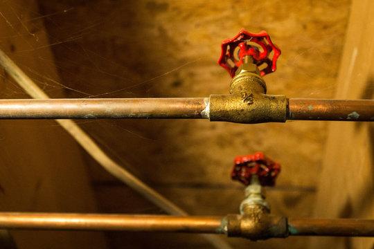Water shut offs in a basement