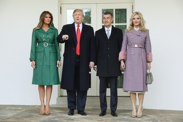 U.S. President Trump welcomes Czech Republic's Prime Minister Babis at the White House in Washington