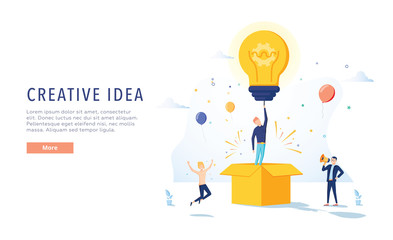 Copywriter Creative Idea Landing Page. Business Creativity Concept for Website or Web Page. Blog Advertising.