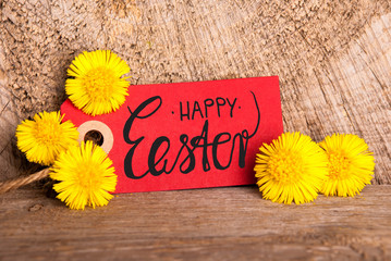 Red Label, Dandelion, English Calligraphy Happy Easter