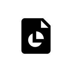 Finace raport file icon. Business document sign