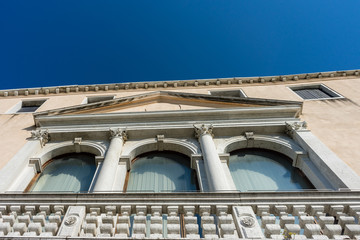 Italy, Venice, a large white building