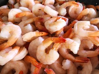 shrimp background  fresh raw shrimp close up background - Shrimp Cocktail shelled peeled for cooking seafood