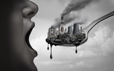 Concept Of Pollution Fotobehang