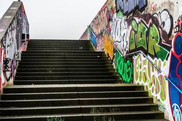 bochum westpark treppe grafitti