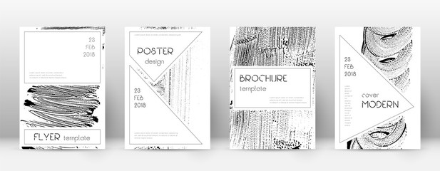 Cover page design template. Stylish brochure layou