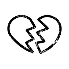broken heart distressed icon