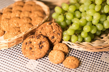 Food Image (Green Grapes, Cookies), Tablecloth 2019