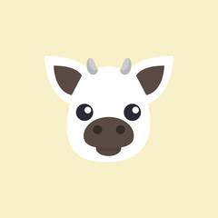 Poster Ranch Cow head. Cow. Farm. Animal. Vector illustration. EPS 10.