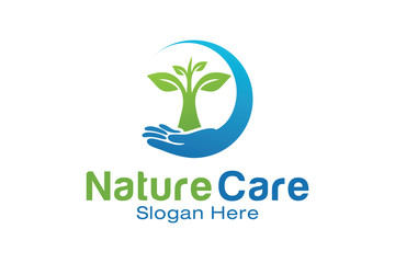 Nature Care Logo Design Template