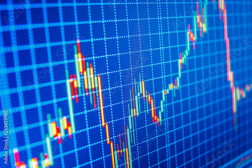 Analysing stock market data on a monitor  World economics