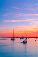 Sunset over Poole Harbour Yachts